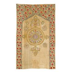 Fine Suzani embroidered wall hanging, 19th c, Uzbekistan. Private Collection.
