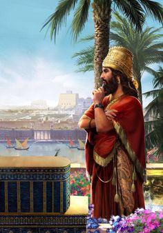 Nabucodonosor II el Grande, rey de Babilonia de la dinastía caldea (605 a. C. -562 a. C.) construyó los Jardines Colgantes. Conquistador de Judá y Jerusalén. Destruyó el Templo en el 586 a. C. Asedió la ciudad de Tiro lo que provocó la salida de Hebreros hacia Tartessos en el 572 a. C.