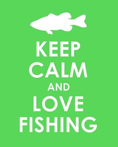Keep Calm and Love Fishing Print by TheLobsterPot on Etsy