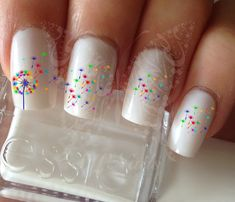 Nail Art Rainbow Dandelion Nail Water Decals Transfers Wraps