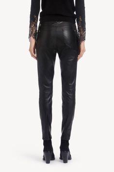 Pantaloni e Gonne Donna - Ermanno Scervino Ermanno Scervino, Tartan, Smoking, Leather Pants, Jeans, Fashion, Leather Jogger Pants, Moda, Fashion Styles