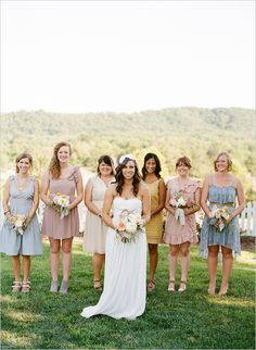 mix-n-match your bridesmaid dresses. seriously, this is so fabulous!