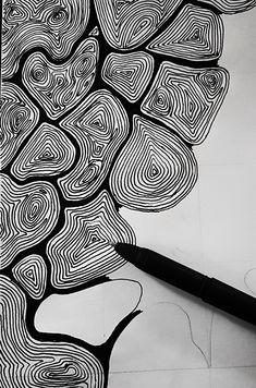 Black Pen Sketches, Black Pen Drawing, Black And White Art Drawing, Doodle Art Drawing, Cool Art Drawings, Sharpie Drawings, Sharpie Art, White Art Pen, Basket Drawing