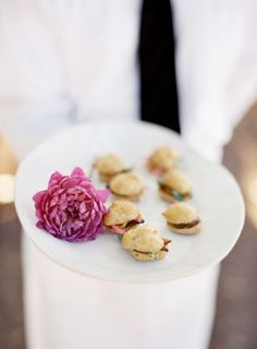 Mini pulled pork biscuits: http://www.stylemepretty.com/2015/08/20/20-cocktail-hour-appetizers-your-guests-will-devour/: