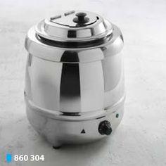 Supiera Electrica este un produs profesional Horeca; Capacitatea este de 8 litri; Dimensiuni: Ø 340 x (H)360 mm,  Putere: 230 V, 435 W; Din otel cromat cu recipient interior din otel inoxidabil si capac rabatabil dotat cu regulator de putere; Foarte potrivit pentru bufeturi; Include semne magnetice; Fabricata in Olanda;