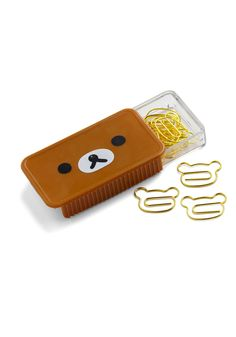 From Here to Bear Paperclips. Add an element of fun to blas paperwork with these adorable paperclips! #gold #modcloth
