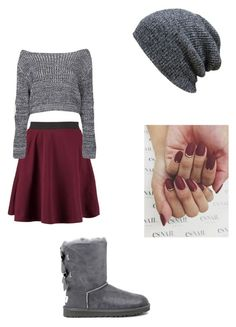 """Untitled #23"" by teodora-stefanova ❤ liked on Polyvore featuring Boohoo and UGG Australia"
