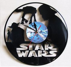 Vinyl Clock / Vinyl Record Clock - Star Wars / Wall Clock / Wall Watch / Black Home Decor / Laser cut / Vinil Clock -1
