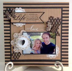 The Craftz Boutique: Kaiser Craft 'Mix & Match' Layouts Couple Scrapbook, Wedding Scrapbook, Scrapbook Cards, Photo Layouts, Note Paper, Wedding Album, Mix Match, Scrapbooking Layouts, First Photo
