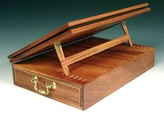 Thomas Jefferson Lap Desk - This is a reproduction created by Jason Breen, fine furniture maker who specializes in colonial era furniture among other kinds.