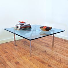 This original Mies van der Rohe Barcelona table (c. 1929) is meant to compliment the designer's famous Barcelona Chair.