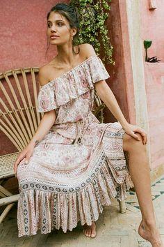 cbf834b3289f7d Rayon 2 Pieces Set Women Dress Ruffle off-Shoulder - Boho Gipsy Store