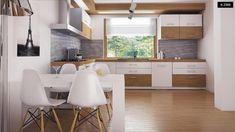 Proiect de casa mica cu o suprafata de 74 metri patrati- Inspiratie in amenajarea casei - www.povesteacasei.ro Kitchen, Table, Furniture, Design, Home Decor, Projects, Cooking, Decoration Home, Room Decor