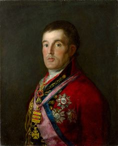"""goya francisco prt of the duke of wellington 1814 (from <a href=""""http://www.oldpainters.org/picture.php?/26511/category/10346""""></a>)"""