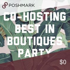 LOOKING FOR HOST PICKS I will be co-hosting my first Posh Party Wednesday, July 26 @ 4 PM PST!  I'm looking for:  * new boutiques  * posh compliant boutiques * boutiques that have size inclusive listings  Please share listings to me that you think fit the above, thank you :)  🎉 I WILL BE CO-HOSTING MY SECOND POSH PARTY AUGUST 1 @ 12 PM PST!!! Other