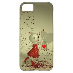 "The Captured Heart iPhone 5C Valentines Case. Whimsical Whimsy ""Valentines Day"" ""Valentines Art"" Love Romance Romantic ""Cute Alien"" ""Red Balloons"" ""Love Hearts"""