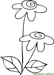flower coloring page (2)