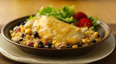 This cheesy casserole dinner has it all - chicken, rice, Progresso® soup and beans and Green Giant® Niblets® corn blended in an easy meal.