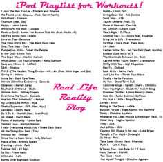 iPod Music Song List - Workout Playlist for exercising - Upbeat Music for the Gym