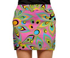 Shagadelic Pink Womens Golfing Skorts by Loudmouth Golf.  Buy it @ ReadyGolf.com