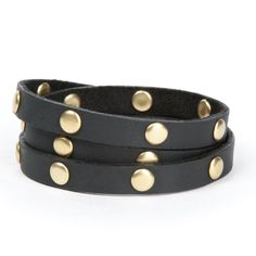 Leather & Brass Wrap Around Cuff