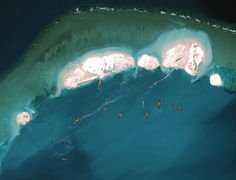 Apr 9, 2015 CENTER FOR STRATEGIC AND INTERNATIONAL STUDIES, VIA DIGITALGLOBE A satellite image from March 16 shows work on an emerging artificial island at Mischief Reef in the South China Sea.