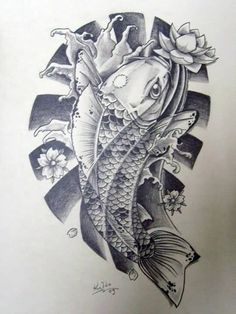 Famous Koi Fish Tattoo Design Beautiful
