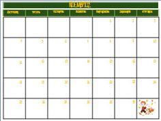 Ημερολόγιο για τον Νοέμβριο του 2013 στο νηπιαγωγείο