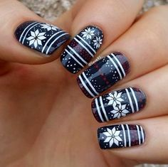 Winter Nail Art Ideas – 80 Best Nail Designs This Winter Winter Nail Art Ideas – 80 Best Nail Designs This Winter,Nail Art and Tutorials Winter-Nails-Designs Winter Nail Art Ideas - 80 Best Nail Designs This Winter nails art nails acrylic nails nails Black Nail Designs, Pretty Nail Designs, Winter Nail Designs, Christmas Nail Designs, Christmas Nail Art, Nail Art Designs, Nails Design, Blue Christmas, Christmas Night