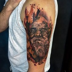Chronic Ink Tattoo - Toronto Tattoo. A colored portrait tattoo done by Mor.