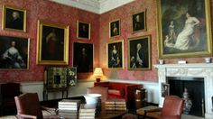 Castletown House, Kildare, Ireland. The Red Drawing Room.