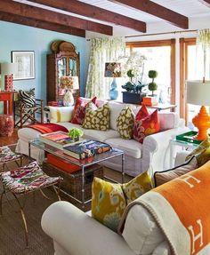 Romantic Bohemian Style Living Room Design Ideas 33 is part of Romantic Bohemian Living Room - Related Eclectic Living Room, Eclectic Decor, Living Room Sofa, Home Living Room, Living Room Designs, Studio Living, Apartment Living, Living Room With Color, Apartment Layout