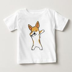 Shop Funny Dabbing Corgi T-Shirt created by RockPaperPaw. Cat Shirts, Cool T Shirts, Cat Lover Gifts, Cat Lovers, Corgi Clothes, Corgi Gifts, Corgi Dog, Dog Design, Funny Cute