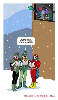 SEASONS GREETING XD<<<< I can see that being Dick Grayson(batman) and Damian Wayne (robin)