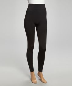 Love this Black Fleece-Lined Leggings by 24|7 Frenzy on #zulily! #zulilyfinds