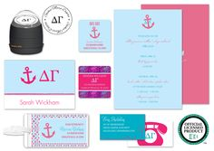 Delta Gamma items from Invitation Consultants