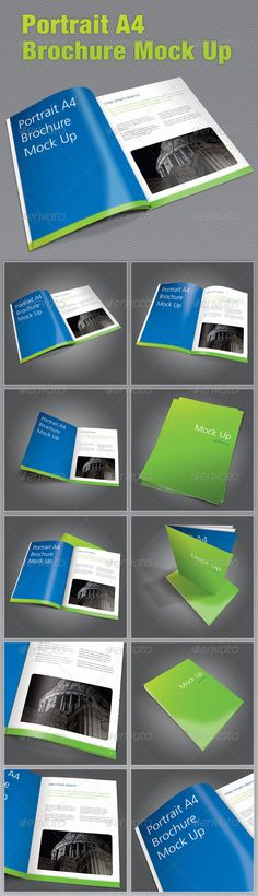 Buy Portrait Brochure Mock Up by pirretjp on GraphicRiver. A series of realistic and different styled layouts to mock up a portrait brochure, prepare your brochures, leaflet. Quote Template, Flyer Template, Graphic Design Templates, Print Templates, Business Brochure, Business Card Logo, Information Graphics, Pencil Illustration, Portrait