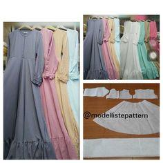 Trendy Sewing Pants For Women Tutorials Ideas Dress Sewing Patterns, Sewing Patterns Free, Clothing Patterns, Sewing Pants, Sewing Clothes, Abaya Pattern, Modele Hijab, Modelista, Muslim Dress