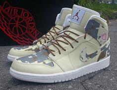 "Air Jordan 1 ""Digi-Camo"" Customs by Ecentrik Artistry"