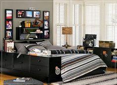 masculine bedding | Modern Fascinating Masculine Decoration Bedroom for Teenage Boys ...