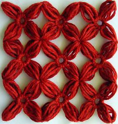 Nine loomed flowers joined using the lattice join