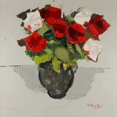 Mhairi McGREGOR - Red and White Roses
