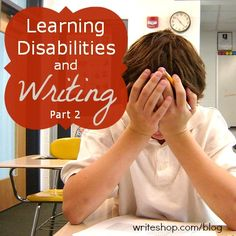 Learning disability written expression
