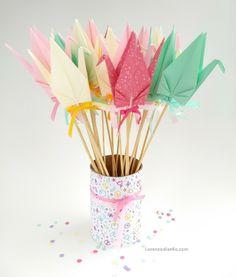 Souvenirs nacimiento, grullas!  Hermosas y con significado de amor, paz y prosperidad! Lorenzadiseño@gmail.com