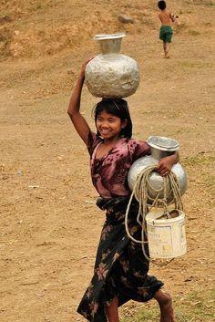 Water bearer Myanmar