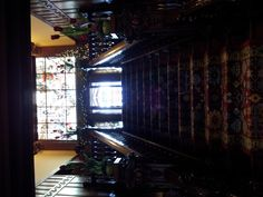 The grand staircase at the American Swedish Institute
