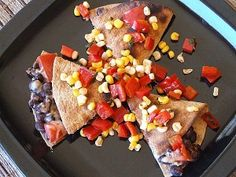 Black Bean Quesadillas with Corn Salsa | Recipe Girl