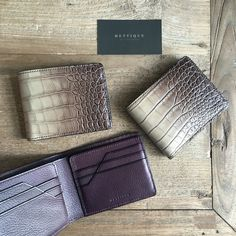 #METTIQUE #handstitch #leatheronly  #METTIQUE #TLS5 wallets in extremely #limited #semiglossysemimatte two-tone #hazelnut #crocodylusnovaeguineae #NewGuinea #crocodile with #purple #Italian #cowhide lining, #handstitched with bees waxed thread.   Only 3 pieces available at the #METTIQUEBoutique, 2nd floor Gaysorn Shopping Centre.   Have a fun Sunday shopping spree!   WWW.METTIQUE.COM