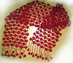 Receitas de Crochet: Lindo cachecol