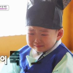 Minguk sobbing after being lectured by the teacher | The Return of Superman. My poor baby :( I wanna hug him :(